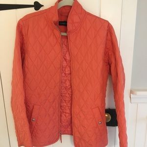 Coral quilted Land's End jacket
